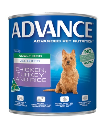 Adult. Can (Chicken, Turkey + Rice) 700g Dog Food Delivered