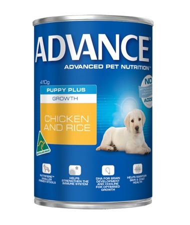 Online Dog Food Puppy Plus Growth Can (Chicken) 12 x410g