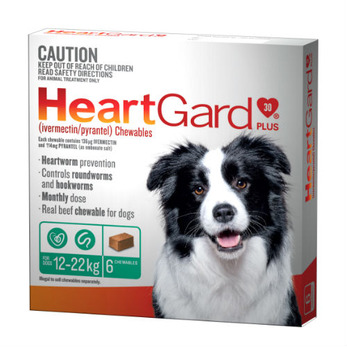 HeartGard 6 Pack Green 12-22kg - Best Online Pet Store